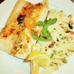 Forellenfilet gegrillt mit Gemüse und Tagliatielle im Restaurant Hotwagner